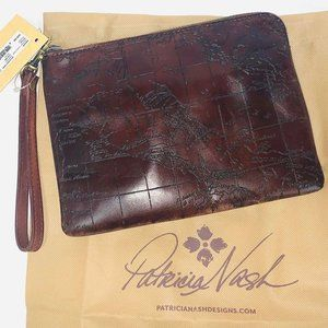 Patricia Nash CASSINI RUST with Map Women's Wallet